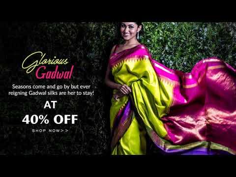 Buy Gadwal Silk Sarees Online from Shatika