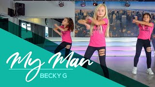 My Man - Becky G - Easy Kids Dance Video - Warming-up - Choreography - Baile - Coreo
