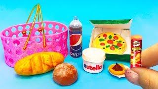 DIY miniature Barbie Hacks and Crafts ~ mini food, nutella, pizza, pringles