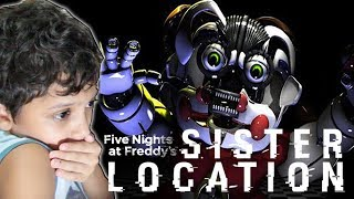 FIVE NIGHT AT FREDDY'S SISTER LOCATION - PRIMEIRAS NOITES!! FNAF 5
