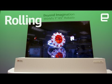 LG's 65'' Rollable OLED TV first look at CES 2018