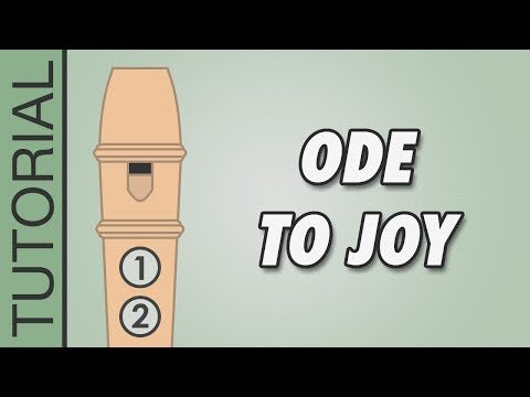 Beethoven - Ode To Joy - Recorder Notes Tutorial