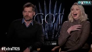 'I Cried for 2 Hours': Gwendoline Christie & Nikolaj Coster-Waldau Talk 'Game of Thrones' Ending