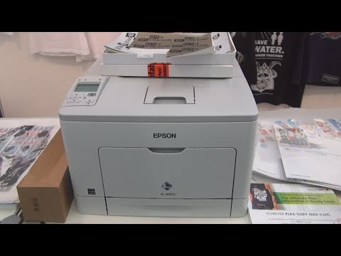 Epson Workforce AL-M300 printer review in 3D