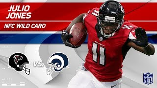 Julio Jones' 107 Total Yards & 1 TD vs. LA! | Falcons vs. Rams | Wild Card Player HLs