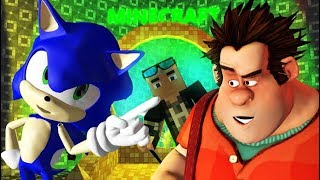 WRECK IT RALPH VS MINECRAFT CHALLENGE! Ft. Sonic (Official) Ralph Breaks The Internet Animation
