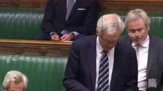 David Davis MP speaks in the debate on the Brexit Draft Withdrawal Agreement