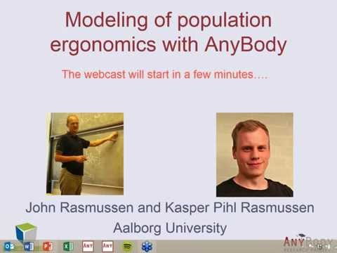 [Webcast] Modeling Of Population Ergonomics With AnyBody