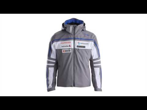 Descente Swiss Team Replica Mens Ski Jacket in Grey