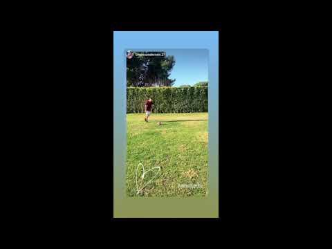 VIDEO - Santon, allenamento in famiglia per tornare subito al top