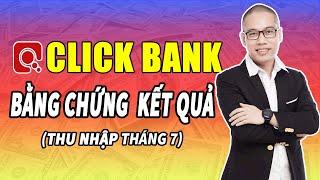 Bằng chứng thu nhập kết quả Clickbank tháng 7 - Son Piaz dạy kiếm tiền Online