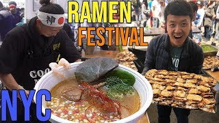 SEVEN Bowls of RAMEN Noodles in ONE Day Ramen Festival in New York
