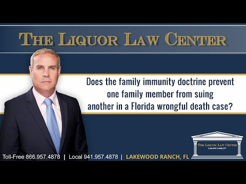 Does the family immunity doctrine prevent one family member from suing another in a Florida...