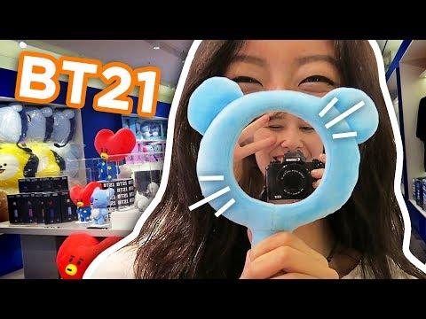 VISITEI A NOVA LOJA DO BTS NA COREIA // BT21 Line Friends Hongdae