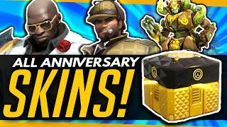 Overwatch   ALL ANNIVERSARY SKINS LEAKED! + Big Announcement Tonight!