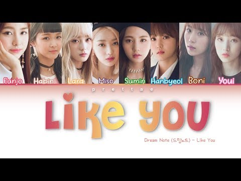 DreamNote (드림노트) - 'Like You' (좋아하나봐) (Color Coded Han|Rom|Eng Lyrics)