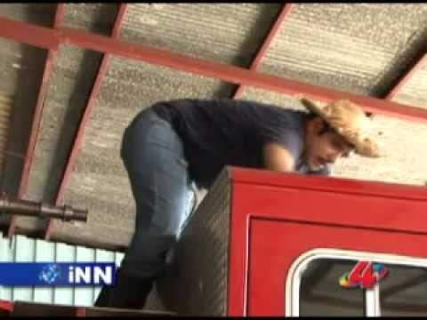 Agapito Diaz trabajando en los bomberos - INN