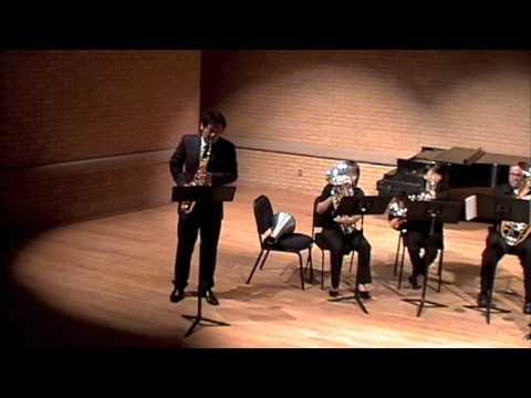 Fisher Tull Concerto da Camera for alto saxophone and brass quintet - II. Lento