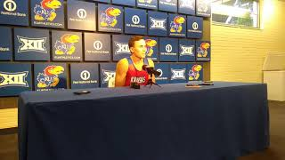 KU basketball players talk after boot camp