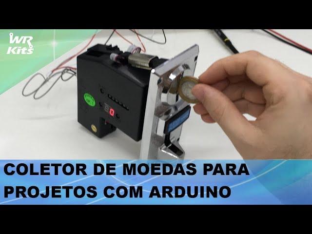 COLETOR DE MOEDAS PARA PROJETOS COM ARDUINO E MICROCONTROLADORES!