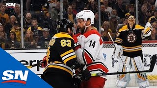 Brad Marchand Baits Justin Williams Into Taking Penalty