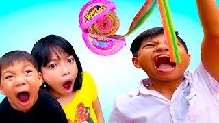 Bạn cùng xóm - Làm kẹo Hubba Bubba cầu vồng bằng kẹo chupa chups ❤ ABC ❤