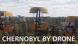 Припять и Чернобыль снятые дроном, с высоты птичьего полета