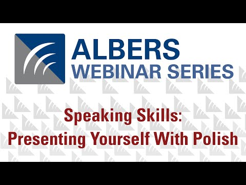 Speaking Skills: Presenting Yourself With Polish