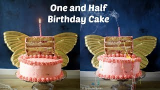 How to make a One and Half Birthday Cake | Vanilla Strawberry Birthday Cake | Half Birthday Cake