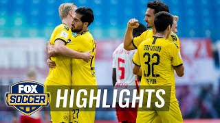 Borussia Dortmund secure second place after 2-0 win against RB Leipzig | 2020 Bundesliga Highlights