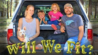 Whole Family Goes Camping In A Camper Shell