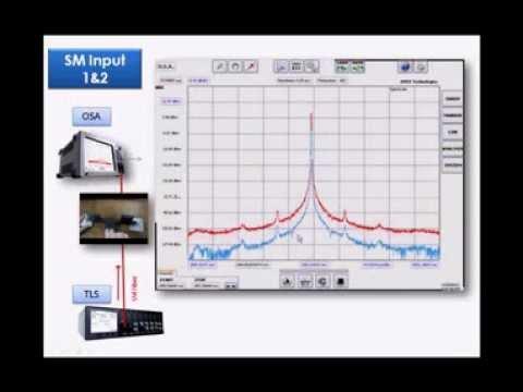 "2 Optical spectrum analyzers in 1 equipment ""long"""