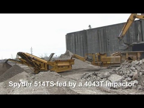 4043T Impact Crusher & 514TS Spyder Screening Plant