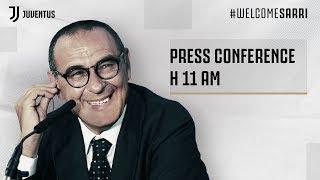 LIVE   Le parole di Maurizio Sarri nella conferenza stampa di presentazione alla Juventus