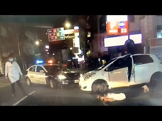 【更新】居家隔離男子開車外出 遭警方攔截圍網