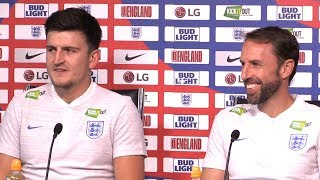 Gareth Southgate & Harry Maguire Pre-Match Press Conference - England v Switzerland - Friendly