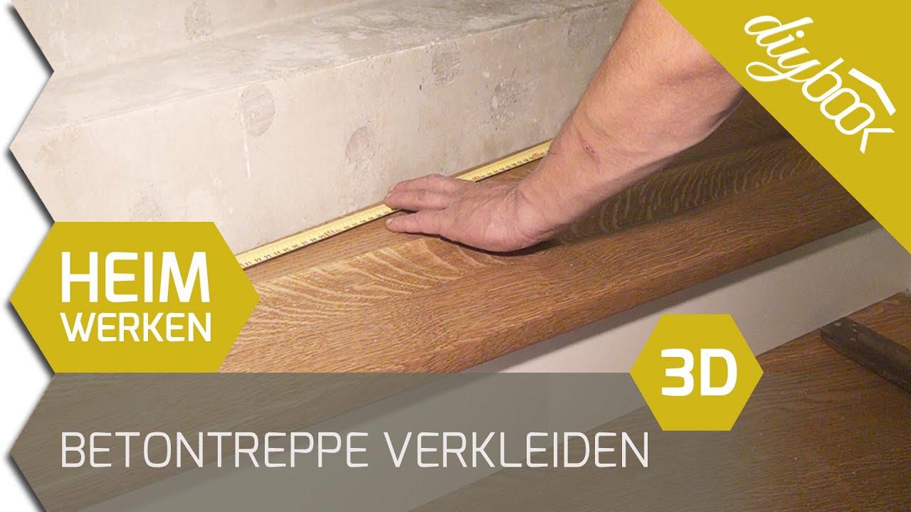 betontreppe verkleiden treppenverkleidung mit holz 3d youtube. Black Bedroom Furniture Sets. Home Design Ideas