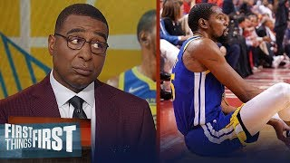 Warriors made a mistake clearing Kevin Durant for GM 5 - Cris Carter | NBA | FIRST THINGS FIRST