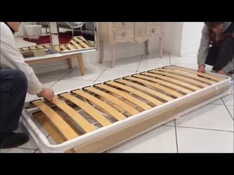 Montaggio letto sommier con contenitore musica movil - Montaggio divano ikea ...