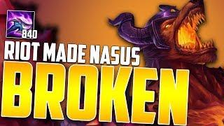 THE NEW NASUS BUFFS MADE HIM A BROKEN JUNGLER! | 200 STACKS AT 10 MINUTES! - HOW TO DOMINATE EP. 46