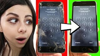 TOP 10 LIFE HACKS - Fix a broken phone with toothpaste!