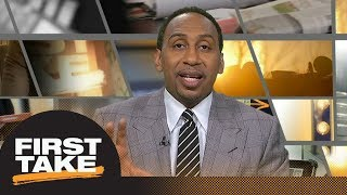 Stephen A. Smith on the Baker Mayfield hype: 'Pump the breaks' | First Take | ESPN