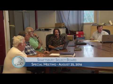 Shaftsbury Special Meeting - 8/25/16