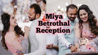 MIYA ASHWIN BETROTHAL RECEPTION/ Wedding Series 3/ GINISVLOGS Epi 113