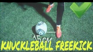Hướng dẫn kĩ thuật sút bóng lắc lư của C.Ronaldo và Bale ~ Knuckleball Free kick tutorial