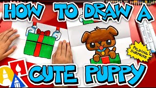 How To Draw A Puppy Present Folding Surprise