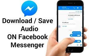 How To Download Audio on Facebook Messenger - YouTube