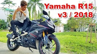 Yamaha R15 v3 - Sinh nhật 18 tuổi được Bố tặng xe Motor khi chưa có bằng lái