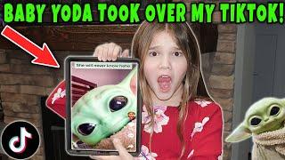 Baby Yoda Took Over My Tik Tok! Slappy Took Baby Yoda