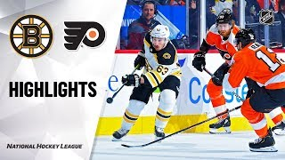 NHL Highlights | Bruins @ Flyers 1/13/20